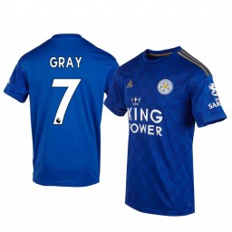 2019/20 Demarai Gray Leicester City Home Short Sleeve Authentic Jersey