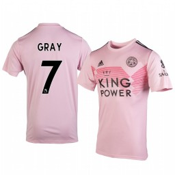 2019/20 Demarai Gray Leicester City Away Short Sleeve Authentic Jersey