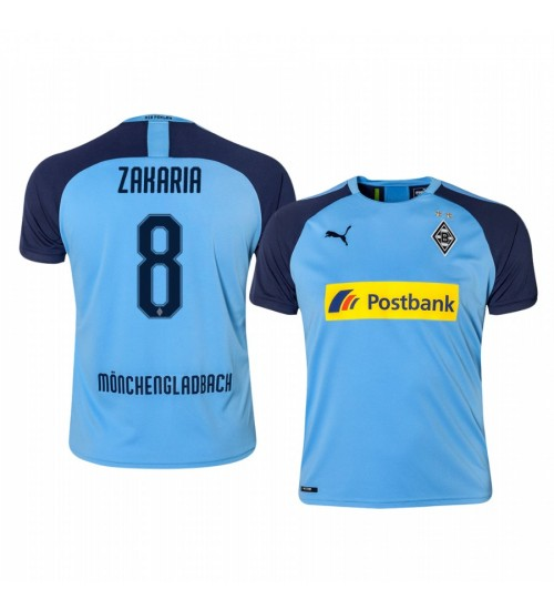 2019/20 Borussia Monchengladbach Denis Zakaria Blue Away Authentic Jersey