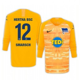 2019/20 Hertha BSC Dennis Smarsch Yellow Goalkeeper Long Sleeve Authentic Jersey