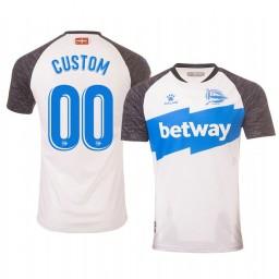 2019/20 Deportivo Alaves Custom White Third Short Sleeve Authentic Jersey