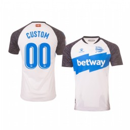 Youth 2019/20 Deportivo Alaves Custom White Third Short Sleeve Authentic Jersey