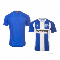 Youth 2019/20 Deportivo Alaves Blue White Home Short Sleeve Authentic Jersey