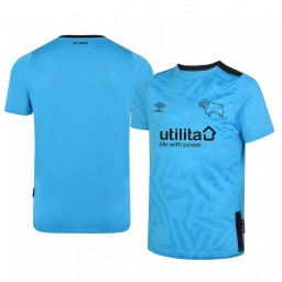 Youth 2019/20 Derby County Away Blue Official Short Sleeve Authentic Jersey