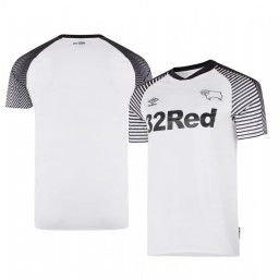 2019/20 Derby County Home White Official Short Sleeve Authentic Jersey