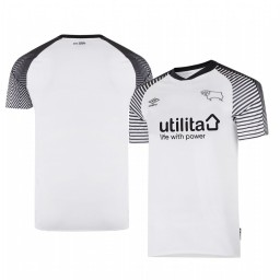 Youth 2019/20 Derby County Home White Official Short Sleeve Authentic Jersey
