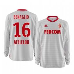 2019/20 AS Monaco Diego Benaglio White Goalkeeper Away Authentic Jersey