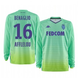 2019/20 AS Monaco Diego Benaglio Green Goalkeeper Home Authentic Jersey