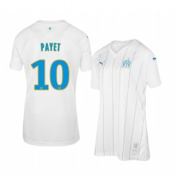 Women's 2019/20 Olympique de Marseille Dimitri Payet Home Authentic Jersey
