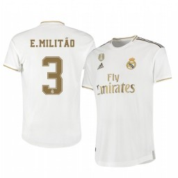 2019/20 Eder Militao Real Madrid Home Authentic Jersey