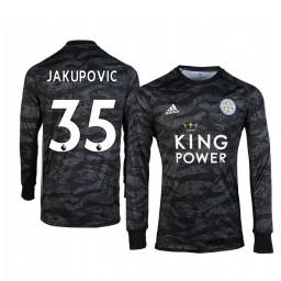 2019/20 Leicester City Eldin Jakupovic Black Goalkeeper Long Sleeve Authentic Jersey