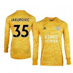 2019/20 Leicester City Eldin Jakupovic Gold Goalkeeper Long Sleeve Authentic Jersey