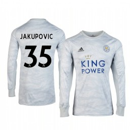 2019/20 Leicester City Eldin Jakupovic Grey Goalkeeper Long Sleeve Authentic Jersey