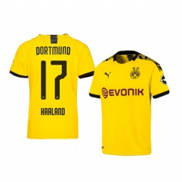 Youth 2019/20 Erling Haaland Borussia Dortmund Home Yellow Official Short Sleeve Authentic Jersey