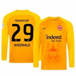 2019/20 Eintracht Frankfurt Felix Wiedwald Orange Goalkeeper Long Sleeve Authentic Jersey