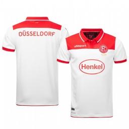 2019/20 Fortuna Düsseldorf White Home Short Sleeve Authentic Jersey