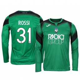 2019/20 Atalanta Francesco Rossi Green Goalkeeper Long Sleeve Authentic Jersey