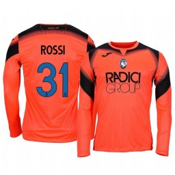 2019/20 Atalanta Francesco Rossi Orange Goalkeeper Long Sleeve Authentic Jersey