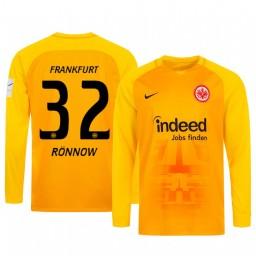2019/20 Eintracht Frankfurt Frederik Ronnow Orange Goalkeeper Long Sleeve Authentic Jersey