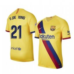 2019/20 Barcelona Frenkie de Jong Away Short Sleeve Authentic Jersey