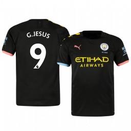 2019/20 Gabriel Jesus Manchester City Away Short Sleeve Authentic Jersey