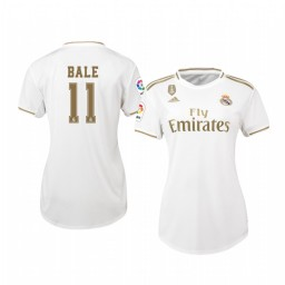 Women's 2019/20 Gareth Bale Real Madrid Home Authentic Jersey