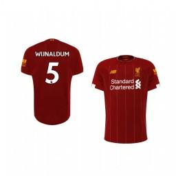 Youth 2019/20 Georginio Wijnaldum Liverpool Home Short Sleeve Authentic Jersey