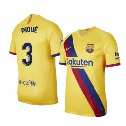 2019/20 Barcelona Gerard Pique Away Short Sleeve Authentic Jersey