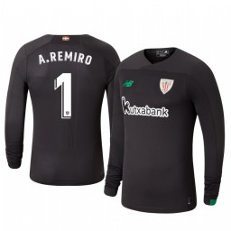 2019/20 Athletic Bilbao Alex Remiro Official Goalkeeper Home Long Sleeve Authentic Jersey