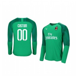 2019/20 AC Milan Custom Official Goalkeeper Home Authentic Jersey