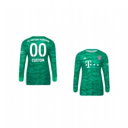 Youth 2019/20 Bayern Munich Custom Official Goalkeeper Home Authentic Jersey