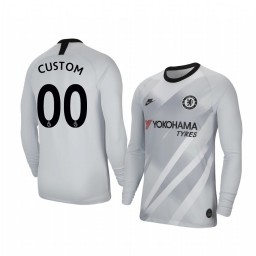 2019/20 Chelsea Custom Stadium Goalkeeper Long Sleeve Authentic Jersey