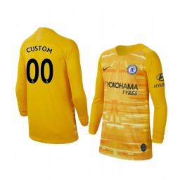 Youth 2019/20 Chelsea Custom Stadium Goalkeeper Long Sleeve Replica Jersey