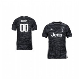 Youth 2019/20 Juventus Custom Official Goalkeeper Home Authentic Jersey