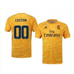 2019/20 Real Madrid Custom Official Goalkeeper Home Authentic Jersey