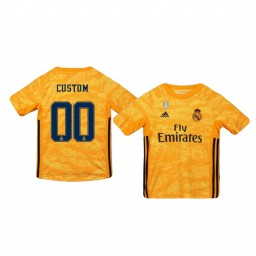 Youth 2019/20 Real Madrid Custom Official Goalkeeper Home Authentic Jersey