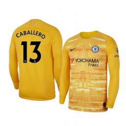 2019/20 Chelsea Willy Caballero Stadium Goalkeeper Long Sleeve Authentic Jersey