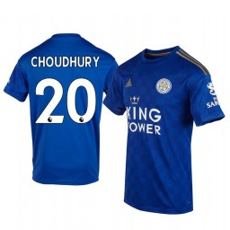 2019/20 Hamza Choudhury Leicester City Home Short Sleeve Authentic Jersey