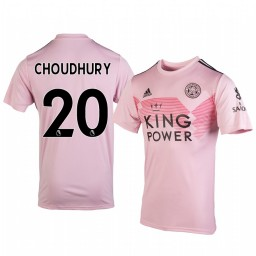 2019/20 Hamza Choudhury Leicester City Away Short Sleeve Authentic Jersey