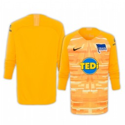 2019/20 Hertha BSC Yellow Goalkeeper Long Sleeve Authentic Jersey