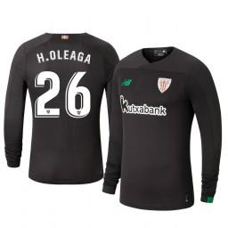 2019/20 Hodei Oleaga Athletic Bilbao Black Goalkeeper Authentic Jersey