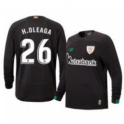 Youth 2019/20 Hodei Oleaga Athletic Bilbao Black Goalkeeper Authentic Jersey