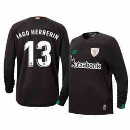 Youth 2019/20 Iago Herrerin Athletic Bilbao Black Goalkeeper Authentic Jersey