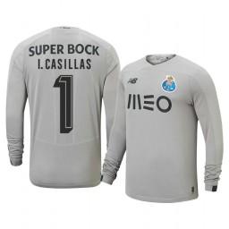 2019/20 Iker Casillas Fernandez Porto Away Goalkeeper Gray Retired Player Authentic Jersey