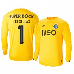 2019/20 Iker Casillas Fernandez Porto Third Goalkeeper Yellow Retired Player Authentic Jersey