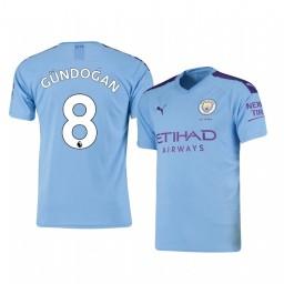 2019/20 Ilkay Gundogan Manchester City Home Short Sleeve Authentic Jersey