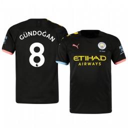 2019/20 Ilkay Gundogan Manchester City Away Short Sleeve Authentic Jersey