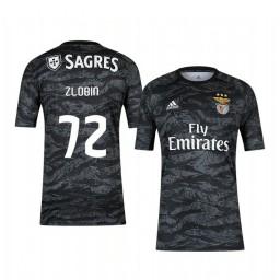 2019/20 Benfica Ivan Zlobin Black Goalkeeper Short Sleeve Authentic Jersey