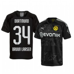 2019/20 Borussia Dortmund Jacob Bruun Larsen Black Away Authentic Jersey