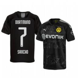 2019/20 Borussia Dortmund Jadon Sancho Black Away Authentic Jersey